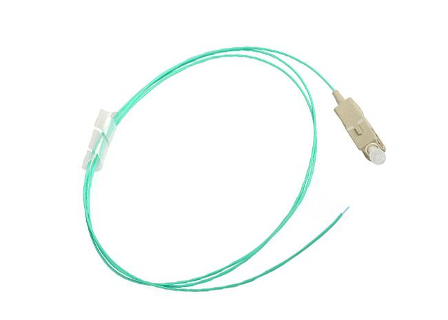 Blue SC / UPC OM4 LOOSE TUBE 0.9MM Fiber Optic Pigtails LSZH AQUA 1.5M