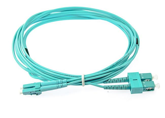 LC-SC 10G OM4 50 / 125 High Speed Fiber Optic Patch Cord PVC / LSZH 2.0mm