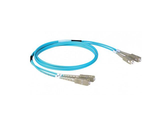 SC-SC Duplex Fiber Optic Patch Cords Premium Quality OM3 10G 50 / 125