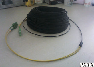 China LSZH Simplex Duplex FTTH Fiber Optic Cable Single Mode With SC Fast Connector supplier