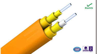 China Duplex Flat Single Mode Indoor Fiber Optic Cable for Communication and Cabling supplier