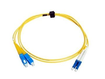 China G652D Single Mode Fiber Optic Cable LC-SC Patch Cord Duplex 0.9mm 2mm 3mm supplier