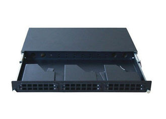 "China 1U 19"" Rack Mount MPO Patch Panel For Home Network , 24 Port Lc Fiber Patch Panel supplier"