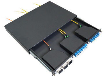 China Simplex / Duplex SC LC MPO Patch Panel 24 Port  , Pre Terminated Fiber Patch Panel supplier