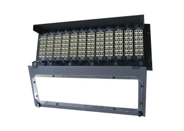 China High Density Cable Wiring MPO Fiber Optic Patch Panel with 12pcs MPO Cassettes supplier