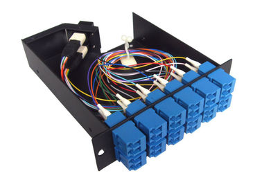 China High Density 12 SC Connector MPO Cassette Patch Panel For Cable Wiring System supplier