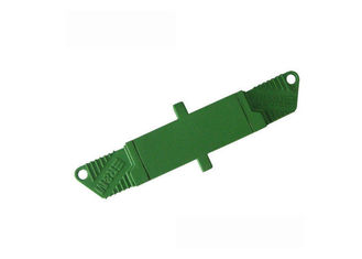 China Multimode UPC APC Fiber Optic Adapter with Blue And Green Housing supplier