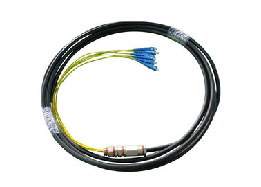 China 2-4 Core  LC / SC  Singlemode 9/125 Waterproof Non-metallic Fiber Optic assemblies for Industry and CATV supplier