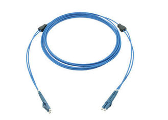 China OM3 OM4 Duplex Armored Fiber Patch Cord for FTTH Cable / Area Network supplier