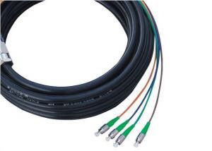 China Waterproof 4 Core Fiber Optic Pigtail For FTTH / MAN , SC APC Connector supplier