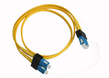 China Compact SC FTTH Fiber Optic Cable Duplex Singlemode Patch Cord , PC / UPC Polish supplier