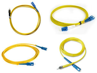 China Communication Fiber Optic Simplex Patch Cord St Connector Fiber Optic Cable supplier