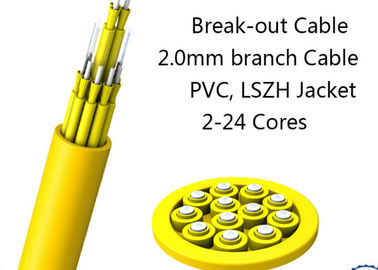 China 24 Fiber Multimode Fan-Out Indoor Breakout Fiber Optic Cable With High Strength supplier