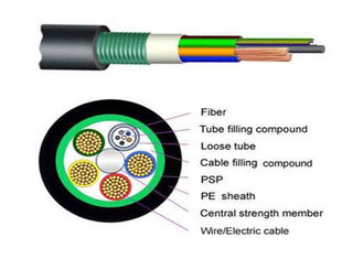 China Armored Composite Power / Outdoor Fiber Optic Cable GDTS for CCTV Cabling Service supplier