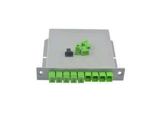 China Customized LGX Fiber Optic PLC Splitter 1260 ~ 1650nm Wavelength supplier