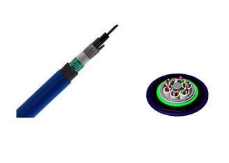 China Loose Tube Mining Fiber Optic Cable MGTSV Single Armored Flame Retardant supplier