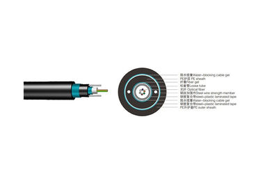 China GYXTW53 Central Tube Direct Burial Outdoor Fiber Optic Cable 2 to 24 Fiber Count supplier