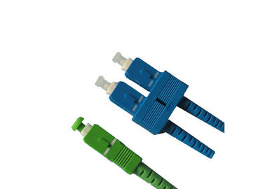 China SC Fiber Optic Connector SM / MM with Housing and Boots in Various Colors supplier