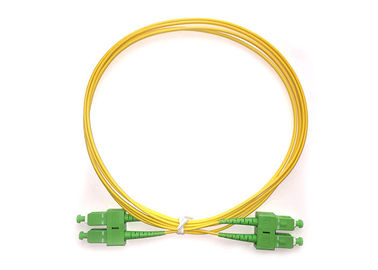 China G652D Singlemode Riser Rated Duplex SCAPC-SCAPC Fiber Optic Patch Cables supplier