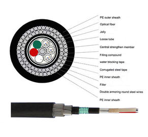 China 2-144C GYTA33 Underwater Outdoor Fiber Optic Cable With Steel Armored for Submarine supplier