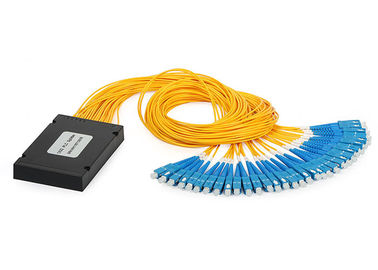 China 1X32 SC UPC/APC ABS Planar Lightwave Circuit optical cable splitter with Equal Ratio Output for FTTH supplier