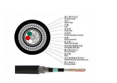 China GYTA53+33 Outdoor Fiber Optic Cable Double Steel Layer Underwater Armored Submarine Cable supplier