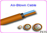 China High Density 24 - 144 Core Air Blown Fiber Optic Cable For Outdoor FTTH factory