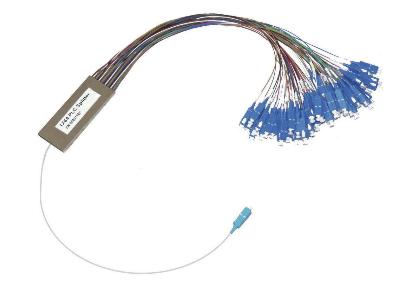 SC Connector 1×64 PLC Fiber Optic Cable Splitter for FTTX