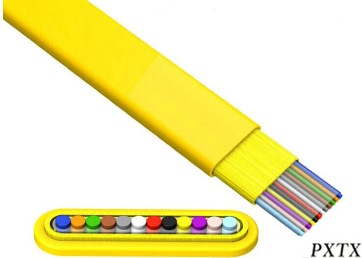 Fiber Optic Ribbon Cable : Core ribbon flat indoor fiber optic cable for patch