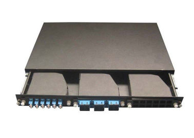 19 Inch Network Cable MPO Patch Panel , 3pcs MPO Casstte Module
