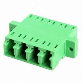 High Precision LC Quad Fiber Optic Adapter with Flange or without Flange for CATV System / Local Area Network