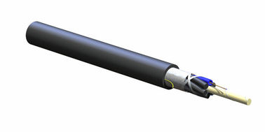 SZ Stranded outdoor Single Strand Fiber Optic Cable For Industial And Military With PE Sheath