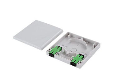 1 Port Optical Fiber Distribution Frame FTTH Socket Faceplate with ABS material For Indoor Usage