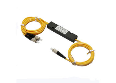 Abs Box Dual Window 1310 / 1550nm Fbt Splitter 1:99 With 2.0mm, 3.0mm Cable